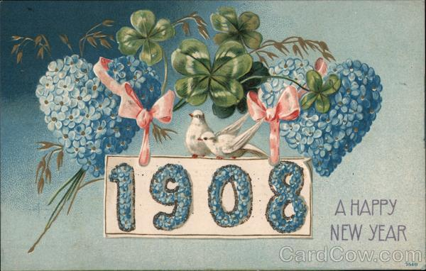 A Happy New Year - 1908 New Year's