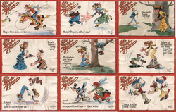 "Set of 9: ""It's Leap Year"" Series Postcard"