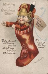 Wishing you Christmas Cheer - Doll in stocking
