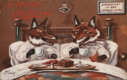 A Merry Christmas Foxes Breakfast In Bed Charged Extra