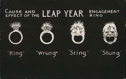 Leap Year - cartoon - stages of an engagement ring