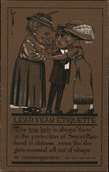 "Leap-Year Etiquette The true lady is always ""there"" in"