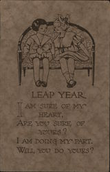 Leap Year - two girls on a bench