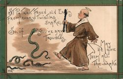 St Patrick removing snakes