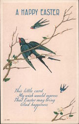 A Happy Easter: Swallows in Cherry Tree