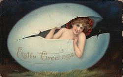 Nude Woman in Egg: Easter Greetings
