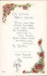 Poem for New Baby Postcard