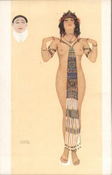 L'Orgeuil By Raphael Kirchner Pierrot Nude Woman Bead Jewelry