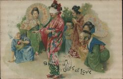 A Gift of Love - Asian Womenp Postcard