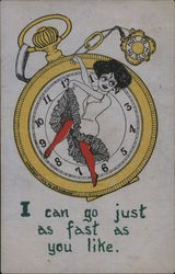 Pocket Watch: I can go just as fast as you like.