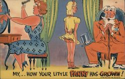 """My, How your Little Fanny has Grown!"" Postcard"