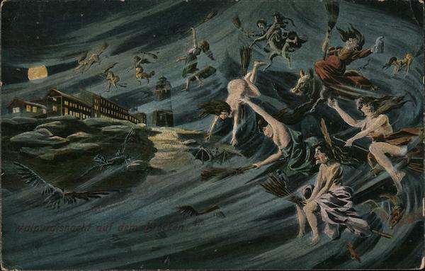 Swedish / German Witches on Brocken Walpurgis Night Halloween ...