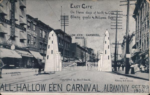 1905 East Gate On these days of mirth and Glee Albany New York
