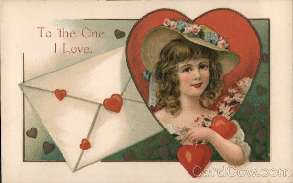 To the One I Love - A Woman in a heart Ellen Clapsaddle