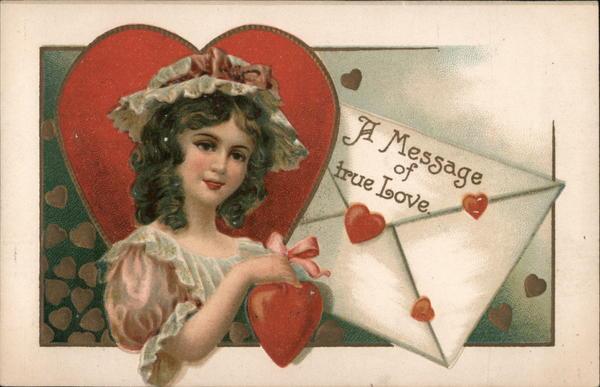 Woman Offers A Message of True Love Ellen Clapsaddle