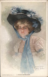 A Mischiefmaker: Woman in Blue Hat