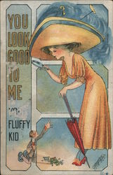 You look good to me You fluffy kid. Postcard