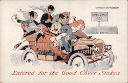 Drinking Women in Car: Entered for the Good Cheer Stakes