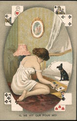 "Woman playing cards with dog: ""He only lives for me"""