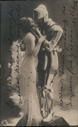 Woman Kissing Knight in Armor