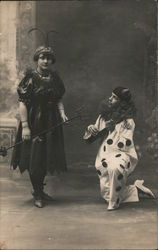Woman Posing With Perriot Clown