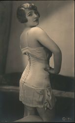 French Woman in lingerie, corset Postcard