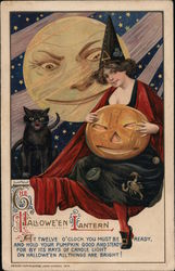 Rare The Hallowe'en Lantern Postcard