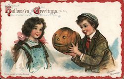 Hallowe'en Greetings Postcard