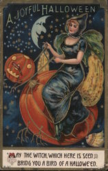 A Joyful Halloween Postcard