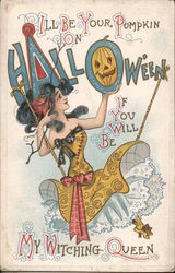 I'll be Your Pumpkin on Hallowe'en Postcard