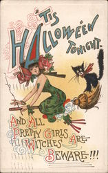 It's Hallowe'en Tonight. Postcard