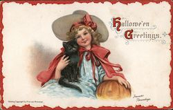Hallowe'en Greetings. Postcard
