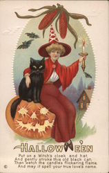 Hallowe'en Witch in Red.