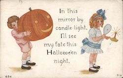 Boy Jack O Lantern Girl Mirror Candle In this mirror