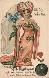 For My Valentine The Lady of the Forget-me-not queen with flower