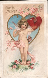 Cupid's Message - Cupid Holding an Arrow and Heart