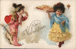 "Children in fancy dresses: ""To my Valentine"""