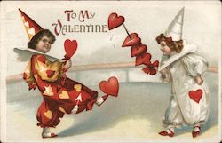 To my Valentine- Children dressed in heart outfits, playing with hearts