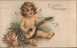 Cupid's Message- Cupid playing Ukalele