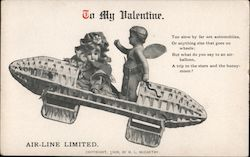 To my Valentine- Doll and cupid flying
