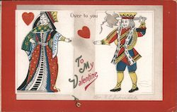 To my Valentine Queen of Hearts passing Heart to King of Hears