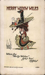 Merry Widow With Man on Hat