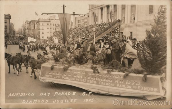 Admission Day Parade - Diamond Jubilee 1925 San Francisco California
