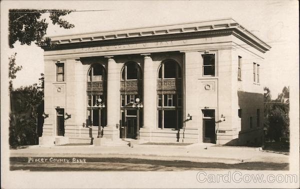 Placer County Bank Building - Exterior View Auburn California
