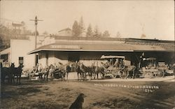 Mail Wagon and Stages Postcard