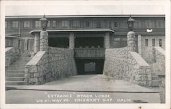 """Entrance"" Nyack Lodge - U.S. Hi-Way 40"