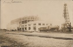 Train on Tracks, Depot or Factory Under Construction