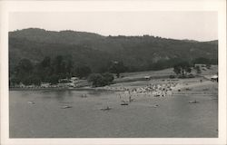 Boaters at the beach, Searsville Lake Postcard