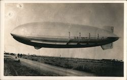 U.S. Navy Dirigible USS Macon / Akron, Probably near Moffett Field