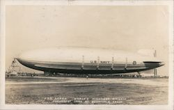U.S.S. Akron, World's Mightiest Airship - Permanent Home Moffett Field